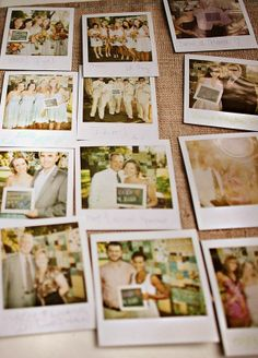 Instead of using a traditional guestbook at their wedding, they asked wedding guests to pose for Polaroid pictures while holding messages written on a small chalkboard. combines the chalkboard, photobooth, and guest book ideas. The Wedding Planner, Wedding Planning, Wedding Events, Our Wedding, Dream Wedding, Weddings, Trendy Wedding, Wedding Stuff, Wedding Reception