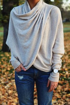 I love this sweater and how it looks cozy but also hides belly fat. Wrapped Up - Makenna Alyse