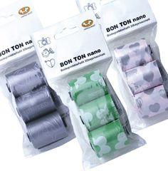 ボントンナノ詰替用袋(犬のマナーグッズ)  ボントンナノ・コロコロ(犬のマナーグッズ)用の詰替用袋のセットです。環境保護に配慮したコーンスターチ製の袋です。