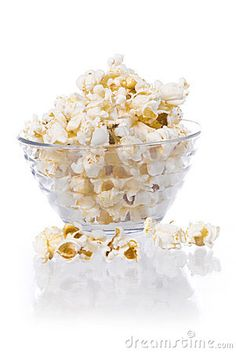 Pop corn on whte background