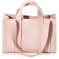 Corto Moltedo Handbags Costanza Beach Club Medium Natural Nappa... ($1,640) ❤ liked on Polyvore featuring bags, handbags, tote bags, purses, sac, nude, tote hand bags, man tote bag, pink tote bag and beach tote