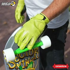 Green means go with the @sector9 Driver II Leather Gloves.  Now available in-store or via our mobile-friendly online store!   #csskateshop x #stockstoke