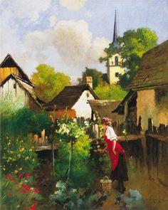 Antal Laszlo Neogrady Sunnies, Garden, Paintings, Landscape, Artists, Flowers, Garten, Sunglasses, Gardening