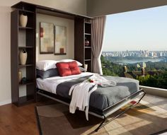 Chocolate Apple Murphy Bed Unit As gorgeous as the view outside Murphy Bed Design Ideas: Smart Solutions For Small Spaces