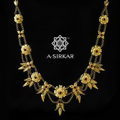 Rita Sen Har :The form is evidently English, very much like the State Chain worn by the monarch or the Chains of Office seen on nobles of high governmental stature. The influence of European design on pre-independence Indian jewellery of the 20th century is clearer than ever in this one handcrafted natural 22K gold har.  We replicated it for Rita-Pishi, whom we featured on our page (September last) celebrating her birthday and sixty years of her patronage. In her honour, we rename this, Rita…