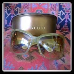Authentic Gucci Sunglasses Authentic Gucci Sunglasses I bought these brand new from Nordstrom for $495. Confirmed RARE & UNIQUE!! Open to all offers please use offer button • Gucci Accessories Sunglasses