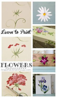 Easy How to Paint Flowers, free tutorials with video, great for crafts, DIY Decor, and decorative art.
