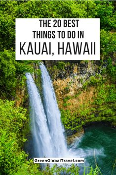 The 20 Best Things to Do in Kauai, Hawaii (For Nature Lovers) with what to see in North Shore Kauai, South Shore Kauai, East Shore Kauai, & West Kauai. Kauai Hawaii, Oahu, Hawaii Hikes, Blue Hawaii, Kauai Vacation, Hawaii Honeymoon, Kauai Things To Do, Fun Things, Kauai Activities