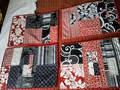 Modern Quilt Placemats by 22marigoldst, via Flickr