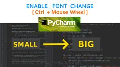 How to enable Font size change ( Zoom ) with Ctrl + mouse wheel in PyCharm IDE Enabling, Problem Solving, Fonts, How To Apply, Tutorials, Change, Designer Fonts, Types Of Font Styles, Script Fonts