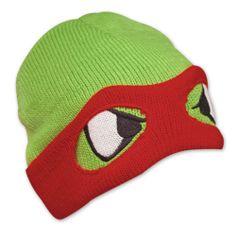 "TMNT Ninja Turtles ""Raphael"" Knit Beanie Hat Cap Ski Mask O/S Kids Adult"