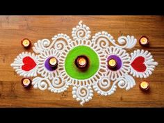 Freehand Rangoli Designs with Colours