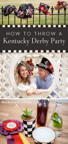 If you can't make it to Churchill Downs, home of the Kentucky Derby, in person to see the run for the roses, be there in spirit and host a Derby party. The essential ingredients are fashion and food. Here are some tips on both. My Old Kentucky Home, Kentucky Derby, Derby Day Fashion, Mckenzie And Childs, Run For The Roses, University Of Louisville, Churchill Downs, Spring Racing, Derby Party
