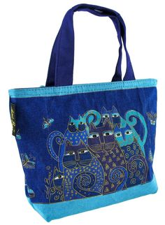 Maggie's Crochet · Mini Bag - Indigo Cats