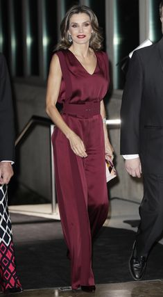 26 October 2017 - Queen Letizia attends 2017 ABC Journalism Award ceremony - jumpsuit by Angel Schlesser, shoes by Lodi, clutch by Tita