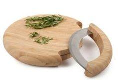 Great Herb Cutting Board. One Kings Lane - Core Bamboo - Mezzaluna Mincing Set