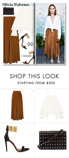 """""""This Massive High-Street Trend Has Just Got the Olivia Palermo"""" by paculi ❤ liked on Polyvore featuring Diane Von Furstenberg, Goen.J, Aquazzura, Alexander Wang, Marni, StreetStyle and PolkaDots"""