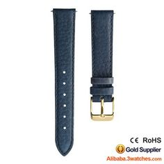Blue Grained Leather Watches Strap 3W-S-L23, click picture to designs your own brand watch.