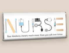 miniture nurse candybars | Nurse Appreciation Candy: First Aid Kit Personalized Candy | Wrapped ...