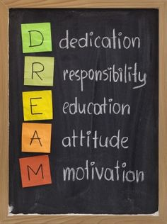 Don't just dream.  Take the steps to make your dream come true!