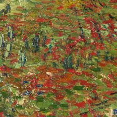 Poppy field – 1890-Extremely Detailed Close Ups of Van Goghs Masterpieces