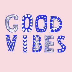 Good vibes positive mindset Art print for sale www.vasarenar.com