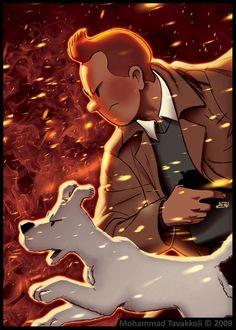Tintin : Burning Dust Storm by memotava on deviantART