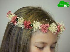 Coronita de flores secas