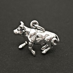 Arabian Horse 3d .925 Solid Sterling Silver Charm Pendant Made In Usa Large Assortment Fine Charms & Charm Bracelets