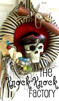 Pirate PartyWreath by TheKnockKnockFactory on Etsy, $65.00
