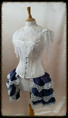 Couture lace tattoo ivory bib epaulette by GothicBurlesque