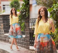 Get this look: http://lb.nu/look/7968146  More looks by Viktoriya Sener: http://lb.nu/viktoriyasener  Items in this look:  Choies Skirt, Mango Sandals, Sheinside Clutch, H&M Blouse   #chic #preppy #romantic