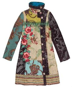 Desigual pracht jas ... Idea for upcycled jacket - lovely pattern and fabric mix