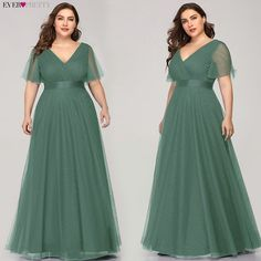 Plus Size Evening Dresses Ever Pretty Elegant V-Neck Ruffles Chiffon Formal Evening Gown Party Dress Robe De Soiree 2019 Source by yonsesfashion party Plus Size Formal Dresses, Bridesmaid Dresses Plus Size, Evening Dresses Plus Size, Formal Evening Dresses, Elegant Dresses, Pretty Dresses, Plus Size Dresses, Evening Gowns, Casual Dresses