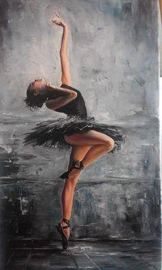 Dance and strength- ballet - Photo Arte Fashion, Ballerina Painting, Dance Paintings, Ballet Art, Ballet Dance, Dance Pictures, Dance Photography, Amazing Art, Street Art