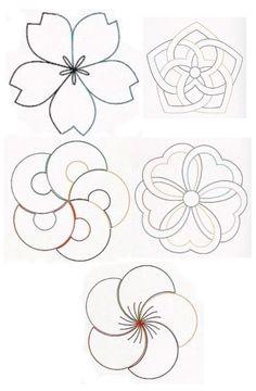 sashiko flowers