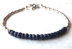 True Blue Sapphire Bracelet Karen Hill Bracelet by EclecticDesigns