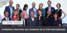 """Assistez au tournage du """"Grand Journal"""" de Canal +"""