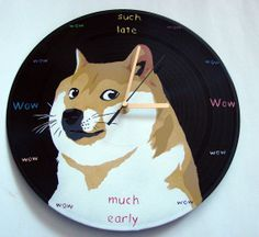 Wow such doge much unique  so vinyl record by VantidusVinylArt, $39.00