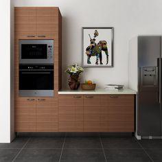 kitchen cabinets, melamine, wood grain, OP14-M05