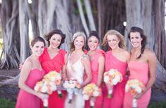 more coral bridesmaid dresses