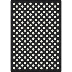 Milliken Eclipse Nightfall Black/White Area Rug  This would echo our quilt!