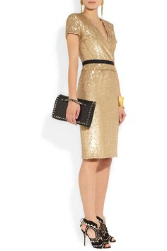 Burberry London | Sequined wrap-effect dress | NET-A-PORTER.COM €950