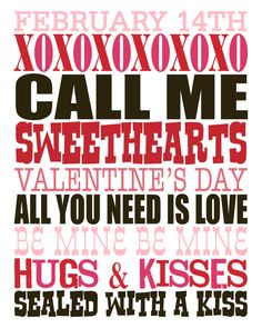 Valentine's Day Subway Printable