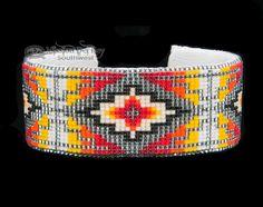 Native American Beaded Cuff Bracelet -Navajo (ij354) - Mission Del Rey Southwest