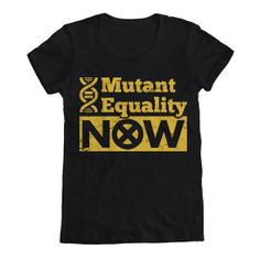 Women's XMen Mutant Equality Tee by Geekteez on Etsy, $19.95