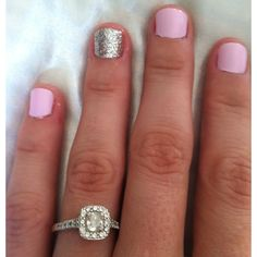 My pretty nails for Vegas. Oh and my ring.