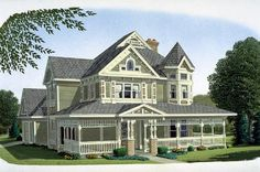 Country Farmhouse Victorian House Plan 95540