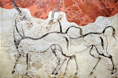 The Bronze Age wall-paintings on the Greek island of Thera - Google Search