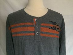 Harley-Davidson Motorcycles 3XL Mens Sweater Button Neck Gray Long Sleeves    eBay